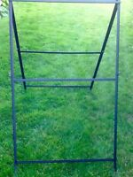 Outdoor free standing sign frame
