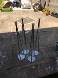 Table legs x4 chrome £20