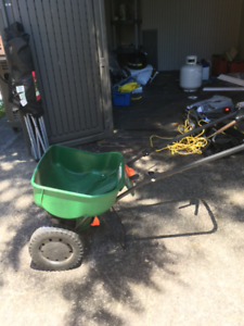 NEW SCOTTS TURF BUILDER SEED SPREADER ONLY $20