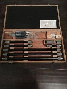 Mitutoyo 339-292 digimatic tubular LCD inside micrometer