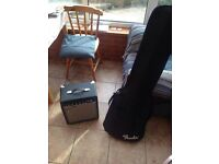 Fender Sqire P Bass and Fender amp