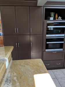 Complete Kitchen - Hardwood Maple Cabinets, Granite Counter-top