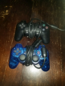 Playstation 2 X2 controllers blue / black