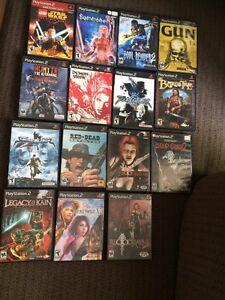 15 jeux au PS2