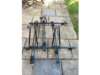 3 Thule bike cycle roof carriers