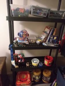 Assortment of boys toys, books, games
