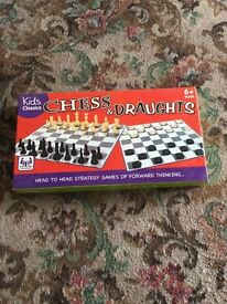 Draughts and chess game