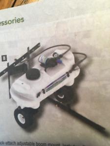 NEW, 25 gallon, tow-type sprayer