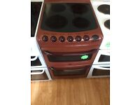**Burgundy Creda 50cm ceramic top cooker**Free Delivery**Fitting**Removal