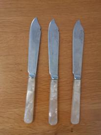 Lovely vintage set of fish knives