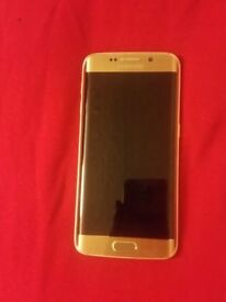 Samsung Galaxy S6 Edge Gold In Excellent Condition