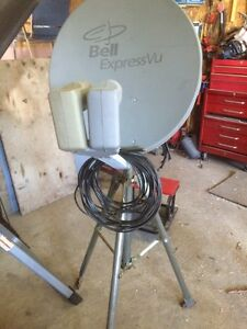Bell dish with tripod and cable
