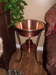 copper stand for decor