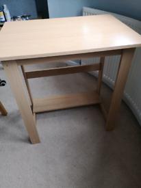 Small beech effect desk