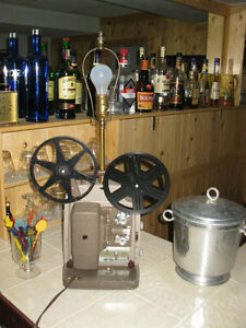 VINTAGE B&H 8MM MOVIE PROJECTOR REPUPOSED MOVIE DECOR TABLE LAMP