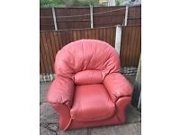 Leather chairs 2 good condition £50 the pair buyer collects tel 07724045302