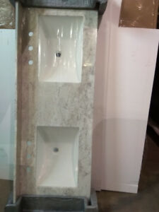 Liquidation Vanity Top Double Sink