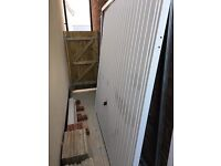 Hormann Vertical Garage Door White