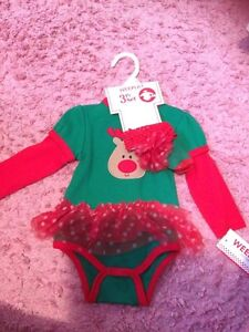 3-6m baby girl Christmas outfit