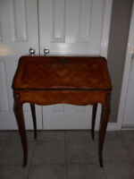 Antique Secretary Desk with Key / Entrance or Hall Table