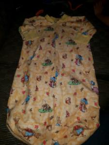 Flannel sleep sack with sleeves