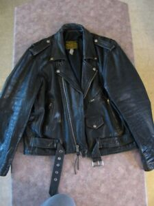 CLASSIC GENUINE LEATHER MOTORCYCLE JACKET