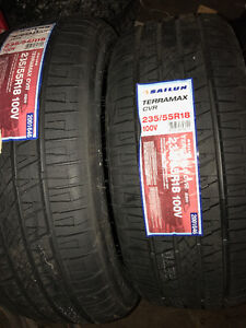 2 Never used Sailun Tires 235 55R 18