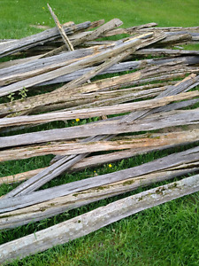 Old wood rails for sale