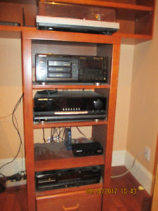 Stereo components and Stand