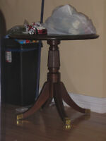 Antique Round entrance table ~Mahagany