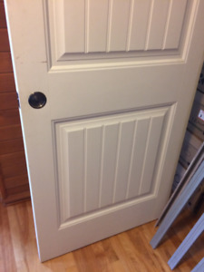 32x80. Pocket Door.  Comes with all the hardware.