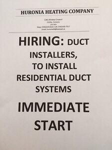 Hiring Duct worker in Orillia and area Kawartha Lakes Peterborough Area image 1