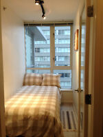 Furnished downtown condo ++ maid service + utilities included