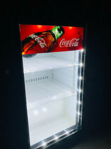 Trendy mini Coca-Cola Fridge - glass front.