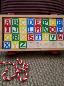 Wooden pull toy $10