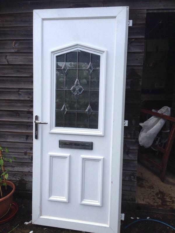 External Double Glazed White Upvc Front Door And Frame