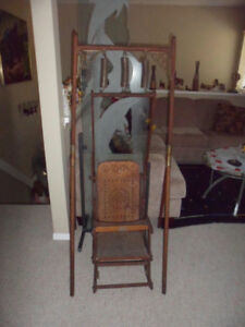 Antique 1800's Glascock Baby Swing Jumper Rocker Bed combination