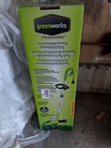 Greenworks 5.5A Electric Grass Trimmer, 15-in