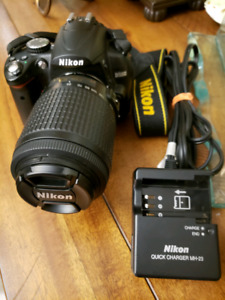 NIKON D5000 DSLR avec Objectif 55-200MM (Vente Rapide)