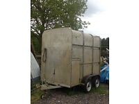 Livestock trailer.