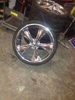 """22"""" Rims and tires for sale"""