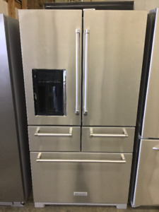 "36"" Kitchen Aid 5 Door Lovely French Door Fridge"