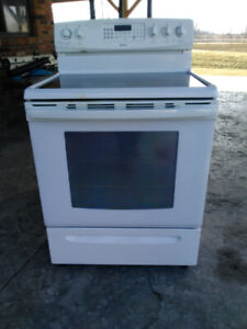 Electric Glass Top 5 Burner Stove And Oven
