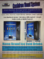 Free Vending Cooler and Service - Cashless Cooler