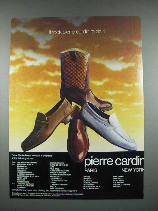 1982 Pierre Cardin Shoes Ad - Took Pierre Cardin To Do