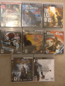 PS3 Games Uncharted Resistance Batman Last of Us Persia & More