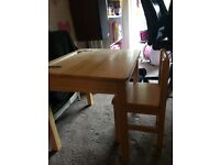 Pin Furniture Solid Wood Desk and Chair