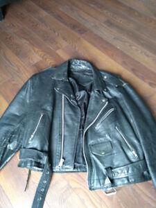 manteaux de cuir style perfecto des années 80/90