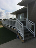 Custom deck and stair railing