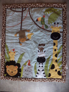 Lambs and Ivy Peek a Boo Jungle Infant set with Lamp